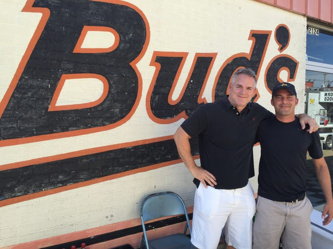 KC Chessser (left) and Chad Brady are moving ahead with plans for Bud's Bar & Grill on West Franklin Street.
