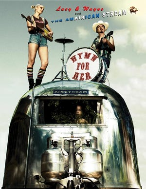 Country blues-punk duo Hymn for Her plays the Tambourine Lounge in an Oct. 2 concert.