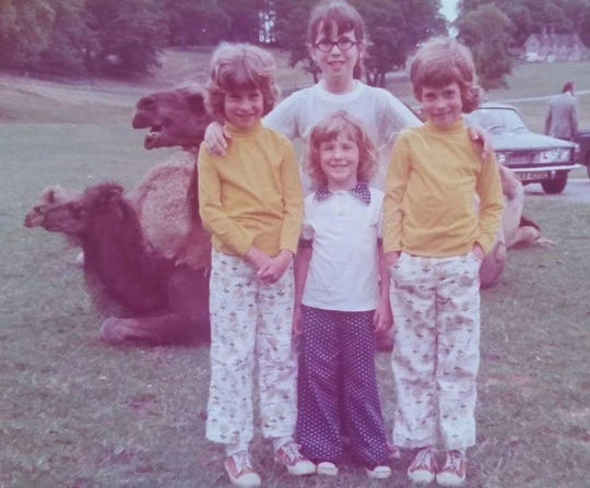 Deborah Vinson and her three younger sisters when the family lived in Germany.