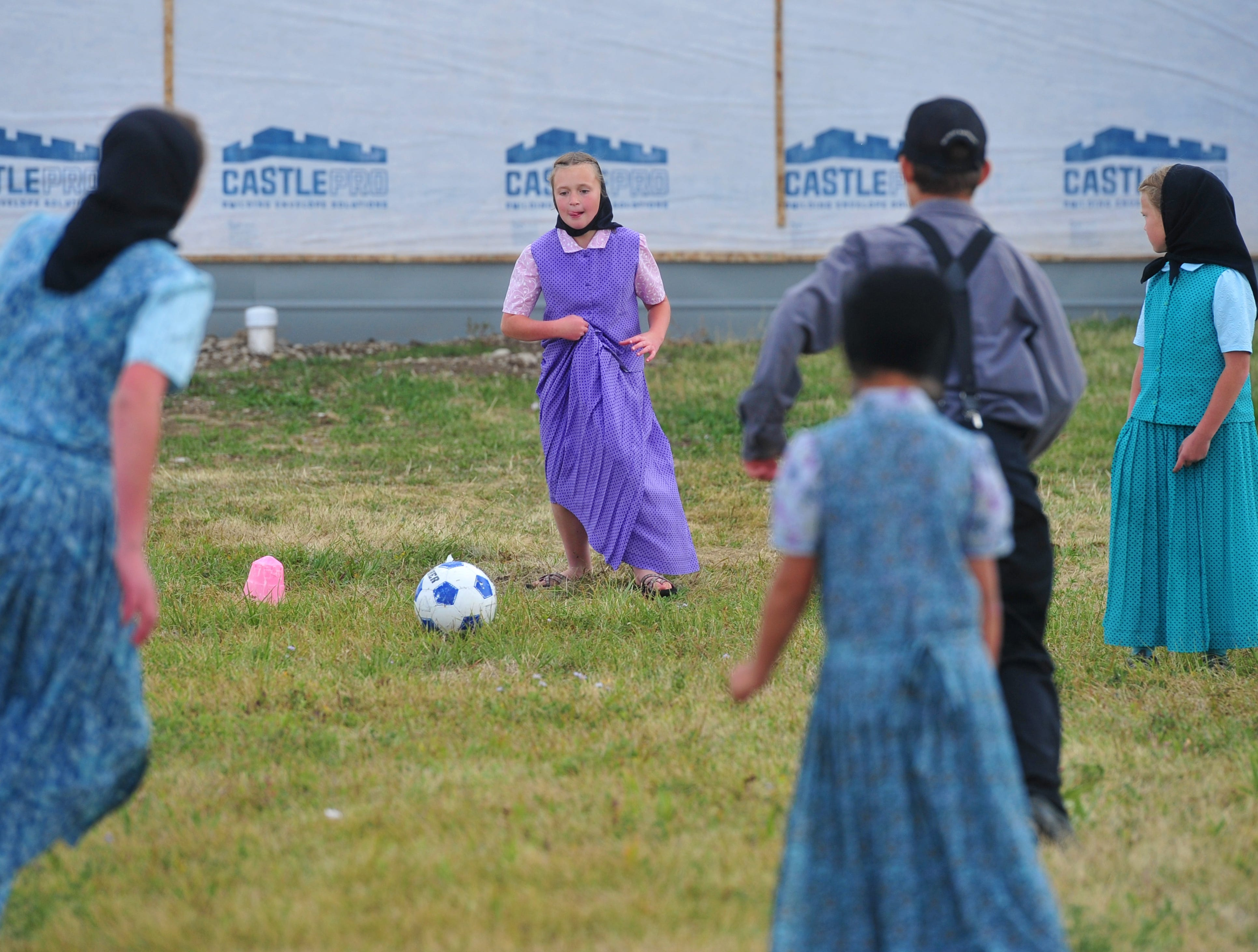 Soccer is a favorite pastime for the kids in Traci Manseau's class on the Deerfield Hutterite Colony.  Manseau is a teaching veteran of 23 years and she has spent her entire career teaching in one room rural school houses.  She is currently teaching 15 students across seven different grade levels at the Deerfield Hutterite Colony in North Central Montana's Fergus County.