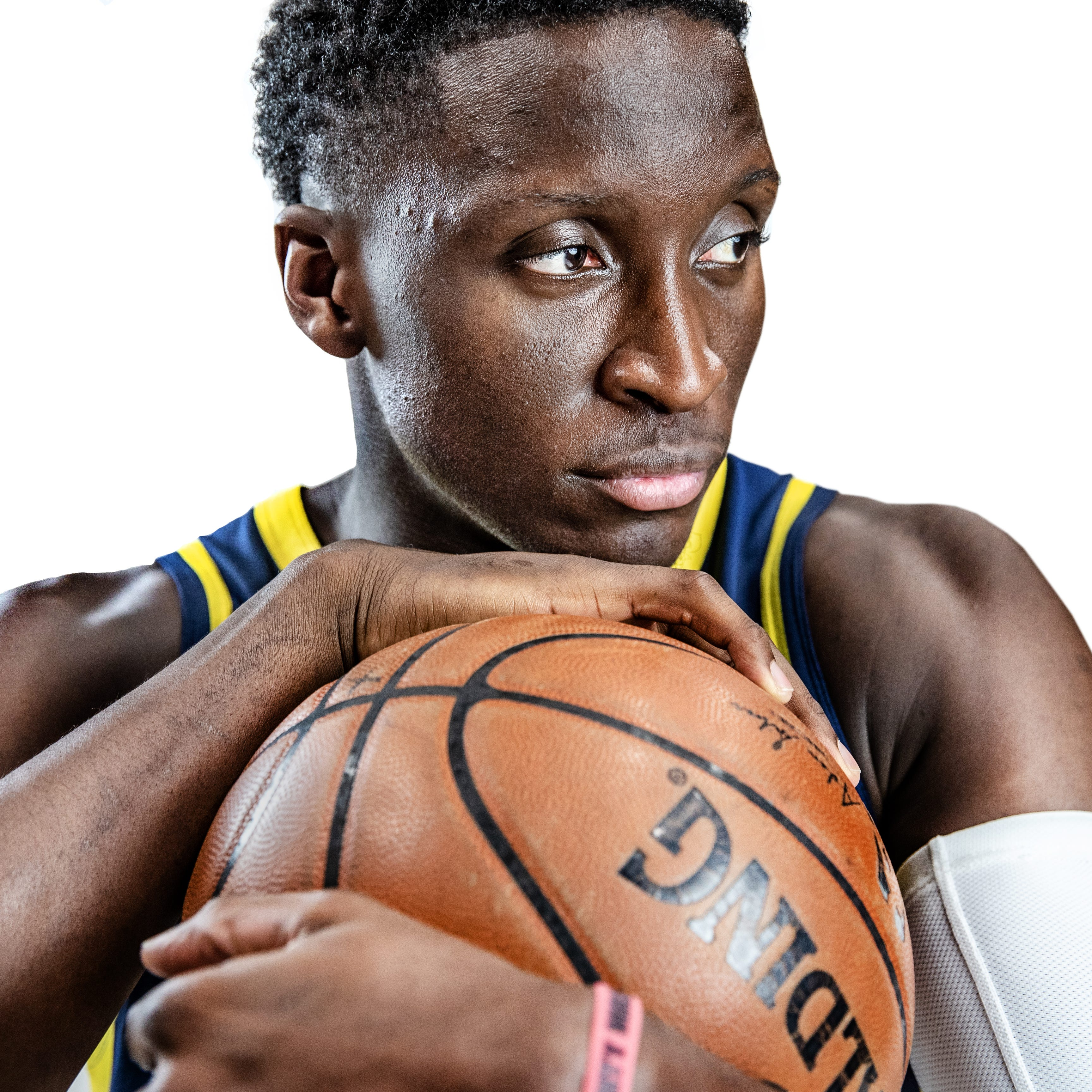 Indiana Pacers guard Victor Oladipo (4) poses for...