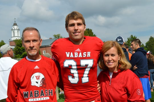 Austin Weirich and his parents, Keith and Leslie.