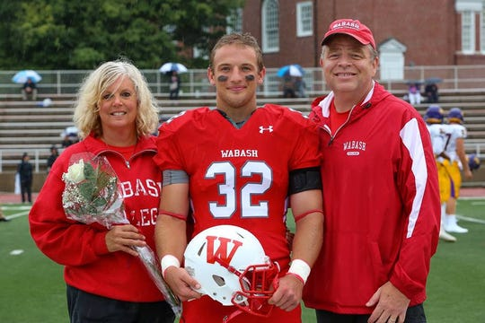 Evan Hansen with his parents, Mary and Chuck Hansen of Carmel, two days before he died.