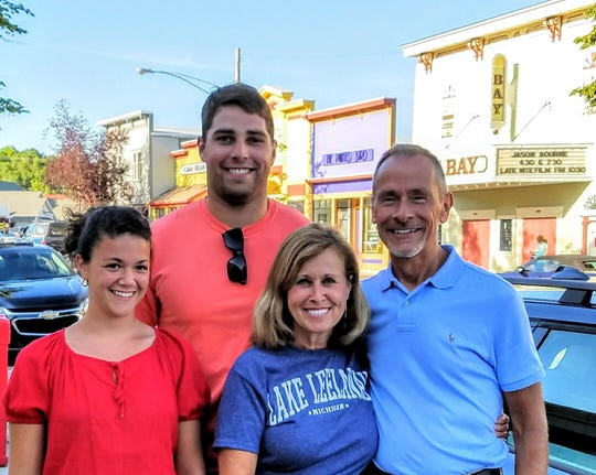 Austin Weirich with his parents, Leslie and Keith, and sister, Hannah.