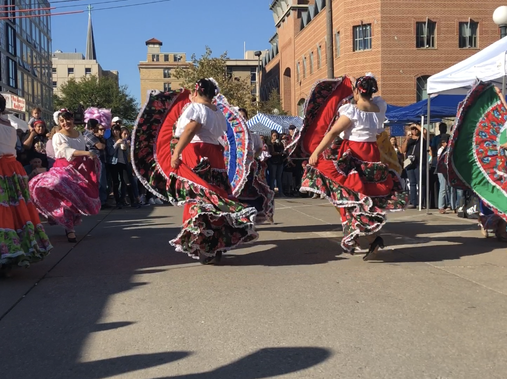 Dancers perform at the Iowa City Latino Festival Sunday, Sept. 23.