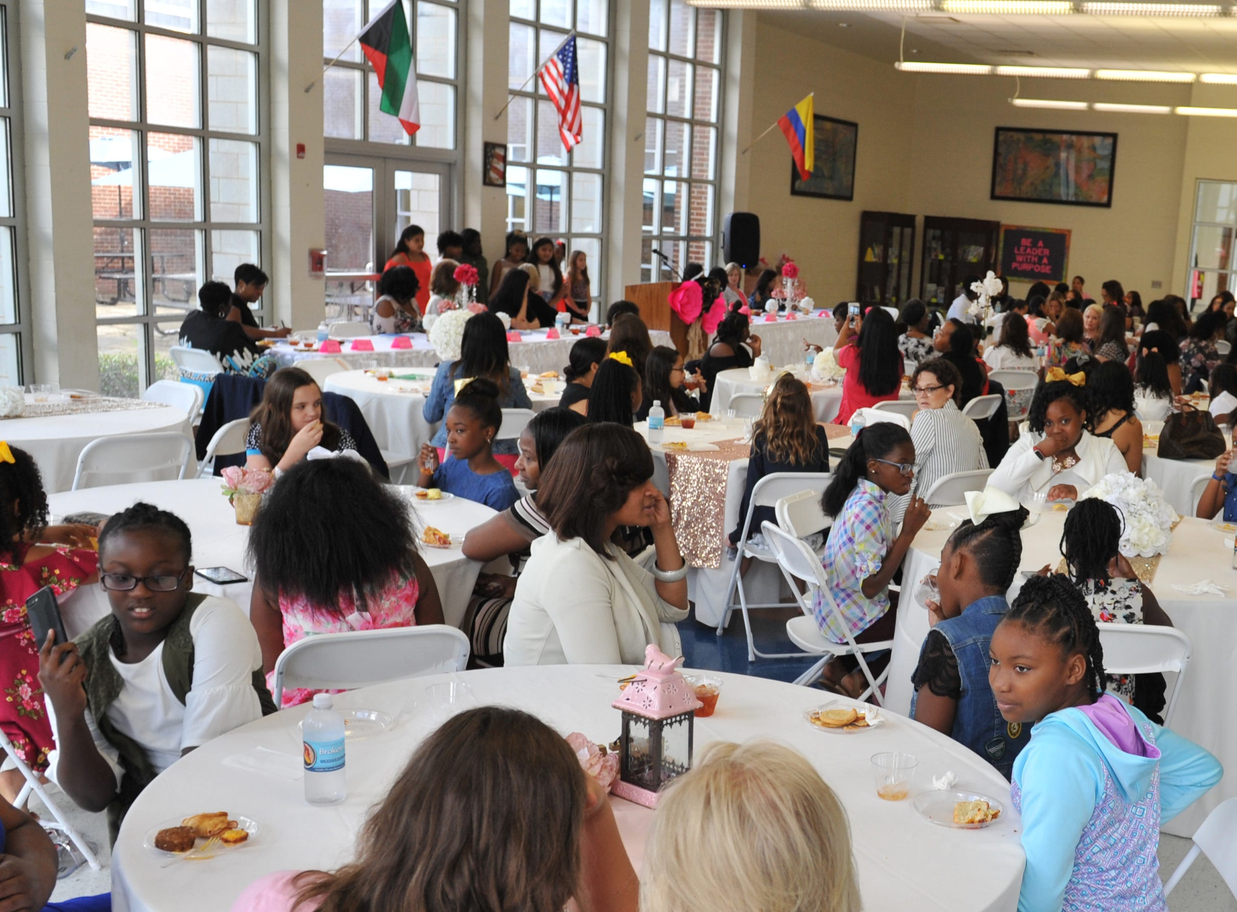 There was a crowd for the Girls with Purpose Club Mother-Daughter Tea at Highland Elementary School in Ridgeland featuring Deborah Bryant and her daughter Katie Bryant Snell on Friday, Sept. 21..
