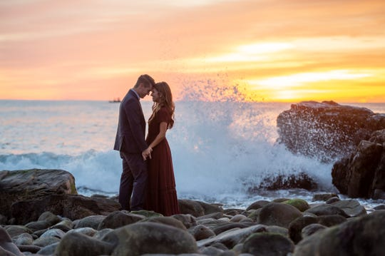 """""""Bringing Up Bates"""" stars Carlin Bates and Evan Stewart got engaged on a surprise trip to Maine."""