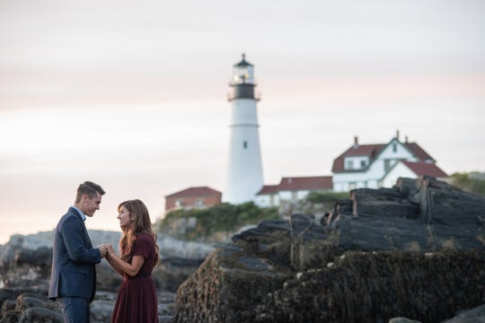 """Bringing Up Bates"" stars Carlin Bates and Evan Stewart got engaged on a surprise trip to Maine."