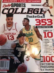 Lindy's preseason 2018-19 college basketball magazine, featuring Purdue guard Carsen Edwards.
