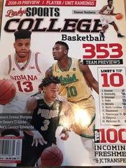Lindy's preseason 2018-19 college basketball magazine, featuring Purdue guard Carsen Edwards.