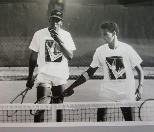 Patrick Minnis during his tennis playing days at USL.