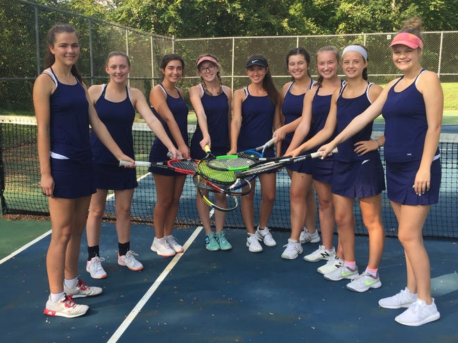 The Lancaster girls' tennis team won the Hilliard Davidson Doubles Invitational for the first time ever on Saturday. The Gales are 14-3 on the season. From left to right: Mallory Thomas, Hope Rooker, Corinna Poullan, Kate Smith, Emi Reindle, Cara Falvo, Sarah Hoffmann-Weitsman, Sydney Bird and Anna Gilmore.