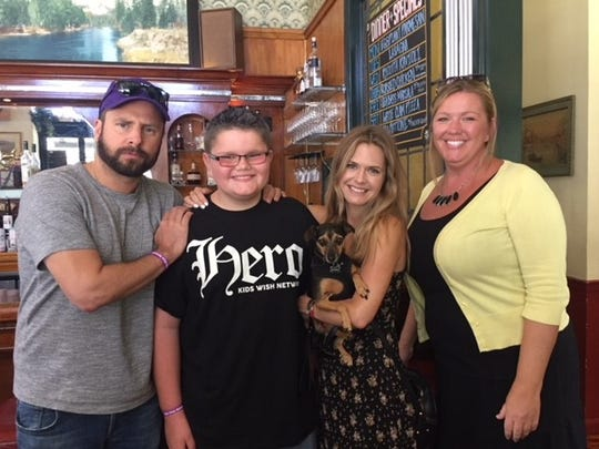 James Roday, Noah Weaver, Maggie Lawson and Crystal Weaver