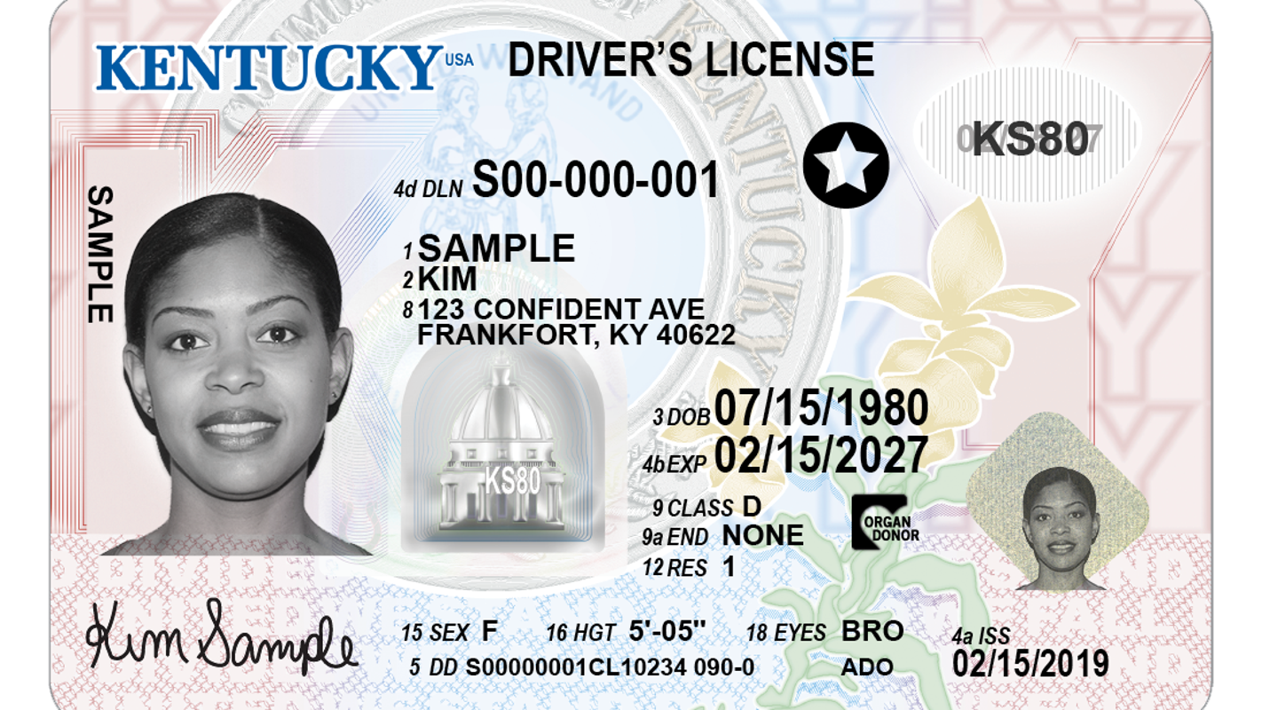 Driver's License Id Travel For Reveals Design New Kentucky