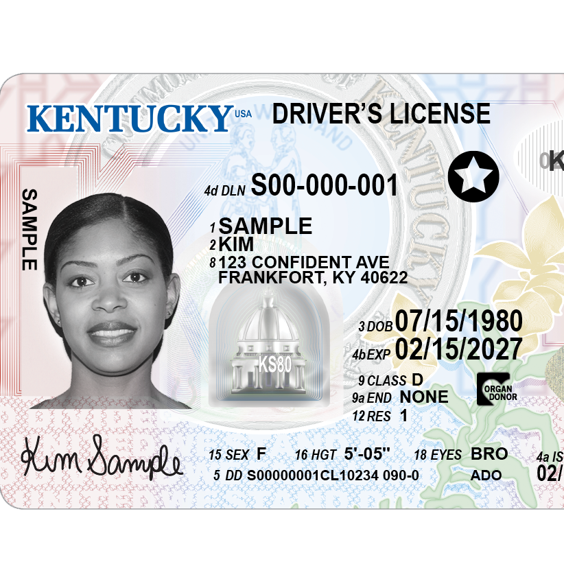 Kentucky is getting new driver's licenses. Here's what they look like.