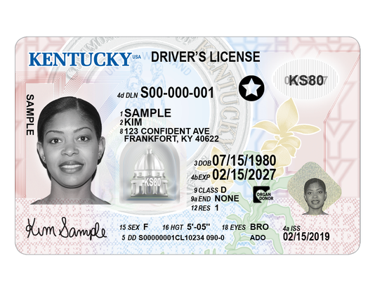Kentucky new driver's license voluntary travel id