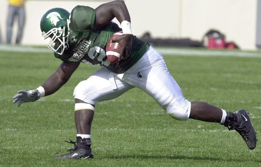 Former Michigan State football player Mike Labinjo died over the weekend. He was 38 and played for several years in the Canadian Football League after a short stint in the NFL.