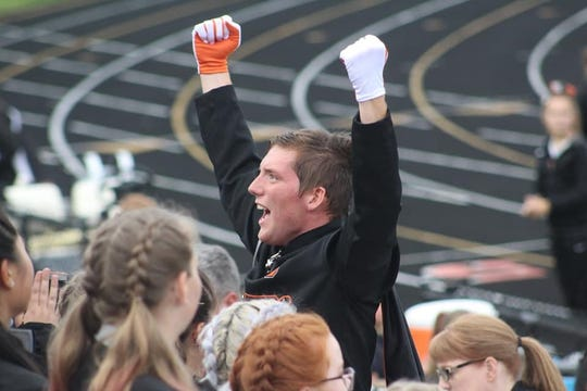 Charlotte High School senior Ryan Klann, 17, will be one of two high school drum majors leading the Macy's All America Marching Band in the Macy's Thanksgiving Day Parade in New York this November.