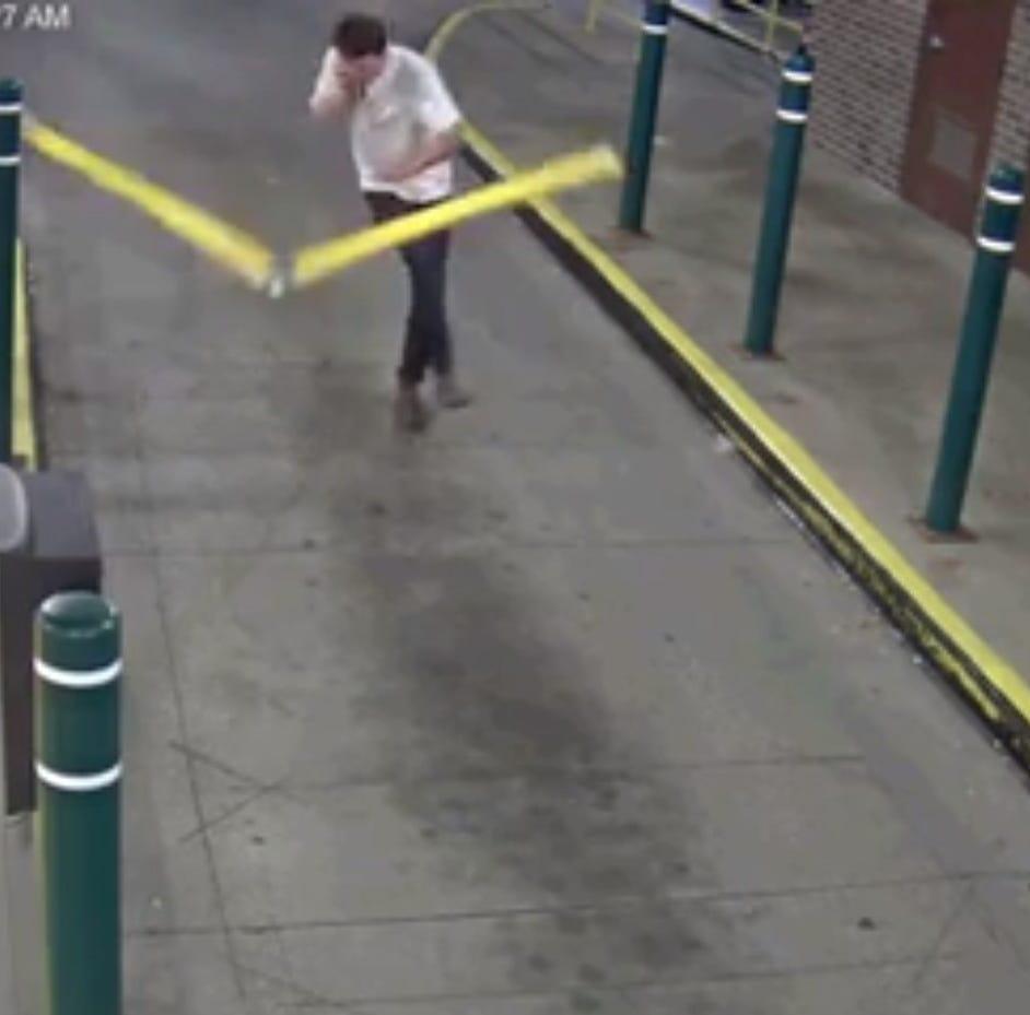 East Lansing police seek man 'working through some anger issues' after parking gate broken