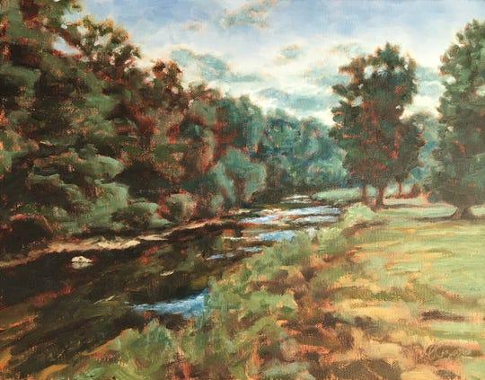 """Quiet River"" plein air painting."
