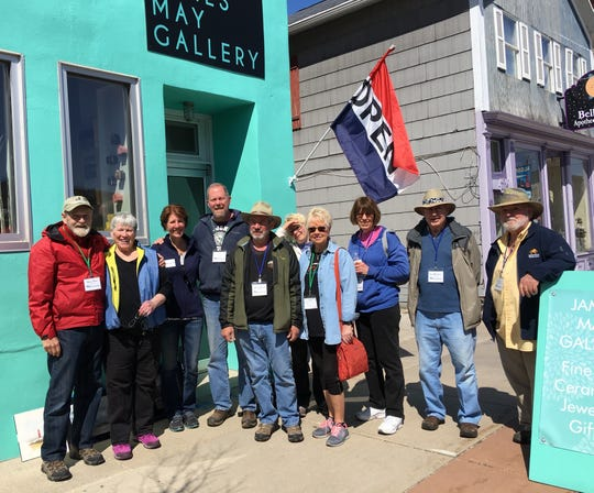 "Waters Edge artists in Algoma at a recent paint-out event celebrating the ""Art of Water."""