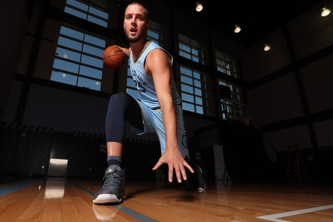 Memphis Grizzlies Chandler Parsons during their media day to kick off the season at the FedEx Forum on Monday, Sept. 24, 2018.