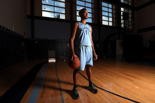 Memphis Grizzlies Kyle Anderson poses for a photo at FedExForum on Sept. 24.