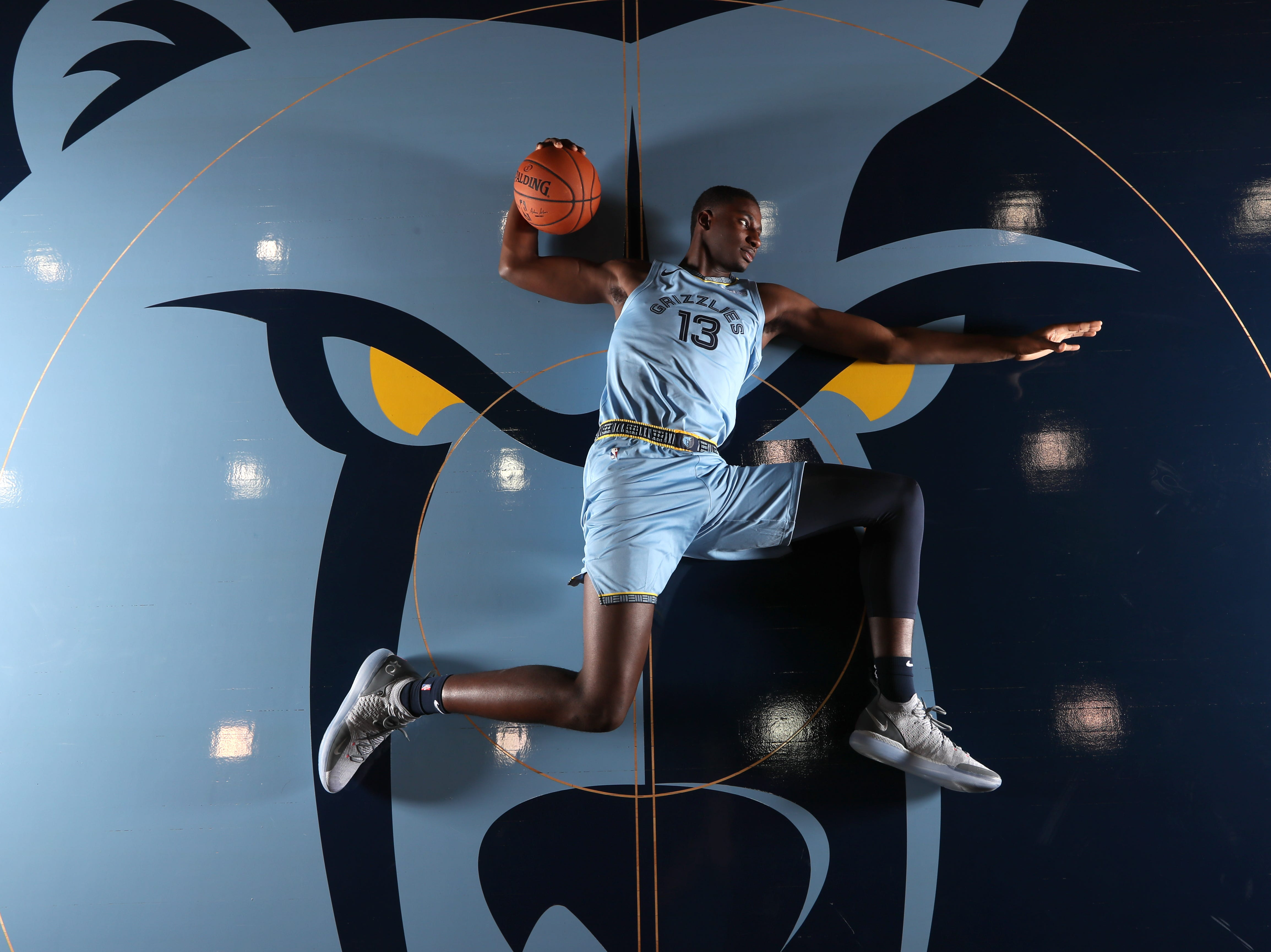 Memphis Grizzlies Jaren Jackson Jr. during their media day to kick off the season at the FedEx Forum on Monday, Sept. 24, 2018.