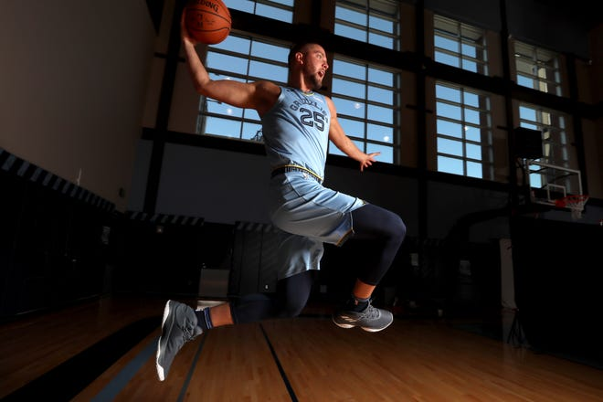 Chandler Parsons during Memphis Grizzlies their media may to kick off their season at the FedEx Forum on Monday, Sept. 24, 2018.
