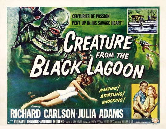 "Something fishy this way comes when ""The Creature from the Black Lagoon"" surfaces Oct. 19 on the giant screen at the Memphis Pink Palace Museum."