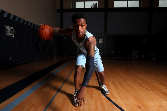 Memphis Grizzlies Brandon Goodwin during media day to kick off the season at the FedEx Forum on Monday, Sept. 24, 2018.
