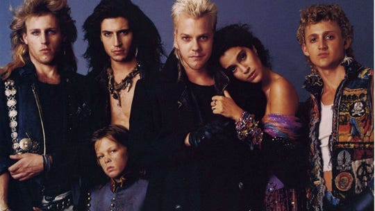 """Brat Pack or Bat Pack? """"The Lost Boys"""" were vampires for the MTV generation. The movie is part of the Oct. 20 """"Time Warp Drive-In"""" lineup."""