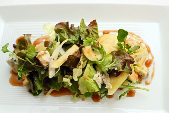 Justin Aprahamian at Sanford Restaurant created this salad using his pickled pears.