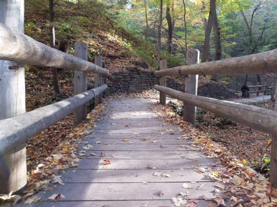The trails of Grant Park in South Milwaukee are a great spot for an autumn walk full of colors and beauty.