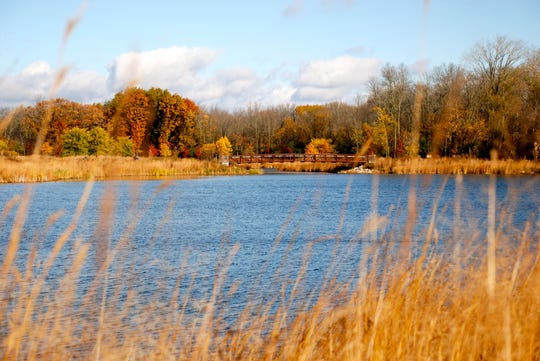 While not the largest of parks, Elm Grove Village Park's trails around the lake offer beautiful fall colors.