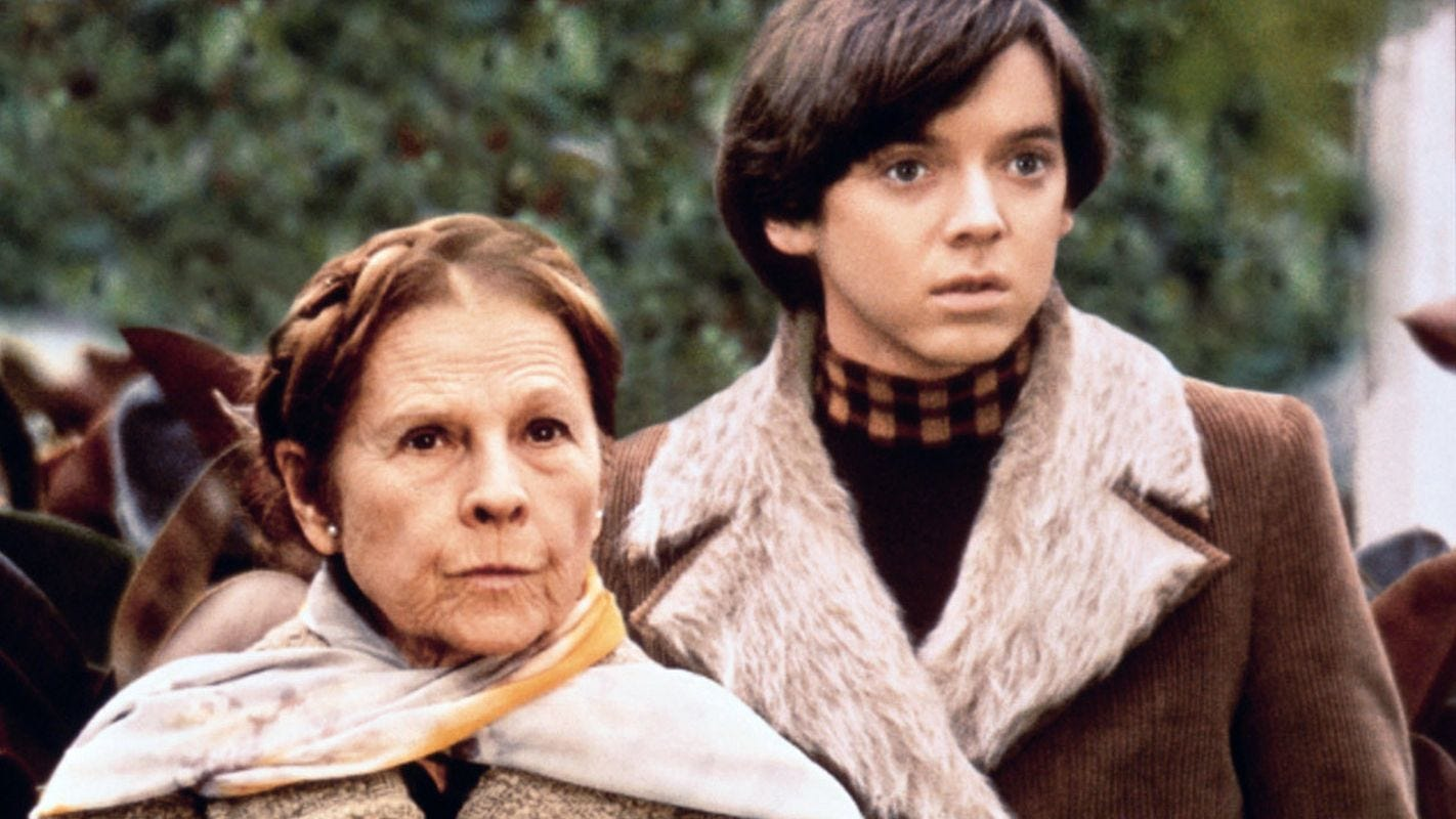 "Ruth Gordon and Bud Cort star in Hal Ashby's 1971 film ""Harold and Maude."""