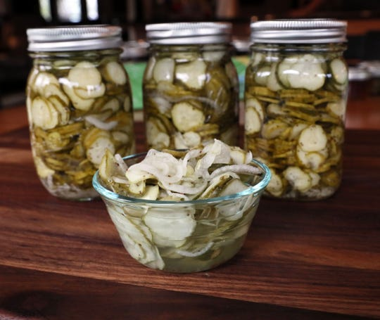 Mary Horton Carstensen has been making her  refrigerator sweet pickles for several years.