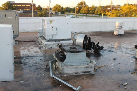 Rooftop ventilation units were damaged at the McDonald's, 3800 N 124th St., Wauwatosa on Sunday, Sept. 23