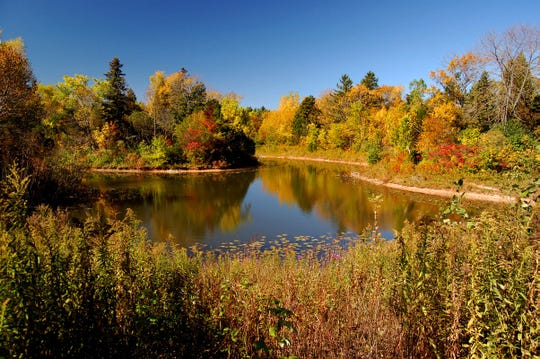 The Schlitz Audubon Center is an excellent spot to find some beautiful fall colors this season.