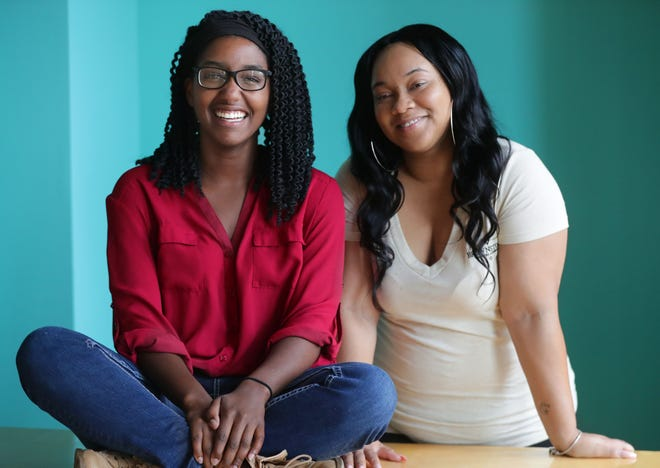 Emily Kuester (left), and Santana Coleman are raising money through crowd-sourcing to pay for a short film that explores stereotypes in a humorous way. They're trying to hire as many women and people of color as possible. They're pictured at their office on East Buffalo Street in Milwaukee on Thursday September 20, 2018.
