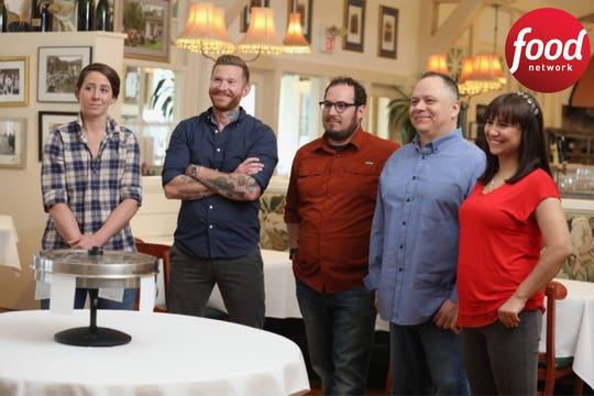 "Barkha Daily competed alongside four other Milwaukee-area chefs on ""Bite Club"" hosted by chef Tyler Florence. Shown (from left) are Caitlin Cullen from The Tandem, Matt Kerley from Bodegon/Hotel Madrid, Aaron Patin from Iron Grate BBQ, Frank Sanchez from Sabrosa Café and Barkha Daily from The Cheel."