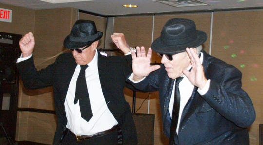 James (Jay) Lovas and Robert Radmore, Sr., as the aging Blues Brothers.