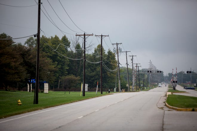 Sidewalks are being planned for Cowan Road in front of Progress Rail and Ivy Tech's campus.