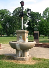 Formerly located at Five Points, the intersection of Windsor Street, Burlington Drive and Kirby, Ohio, and Macedonia avenues in Muncie, the Five Points Fountain was moved to Heekn Park in 1971.