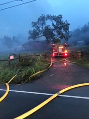 Rutherford County firefighters responded to a large structure fire in the 8000 block of Couchville Pike Monday, Sept. 24, 2018