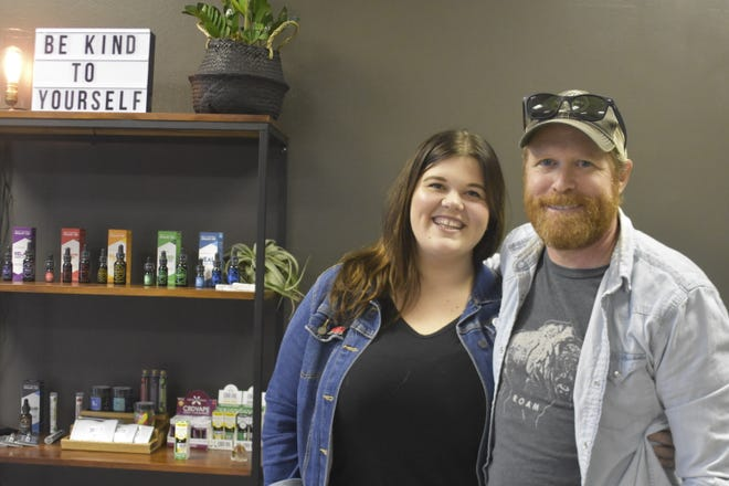 Alyssa Russell and Chad Cheadle opened 615 CBD, located at 2006 Highway 49 East in Pleasant View.
