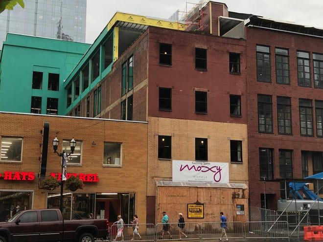 A Marriott Moxy brand hotel will open early next year on Lower Broadway.