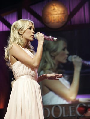 Carrie Underwood is expected to perform during the Tuesday night's American Music Awards show atthe Microsoft Theater in Los Angeles.