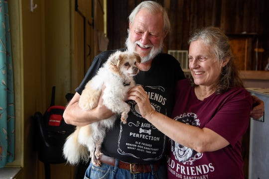 Michael and Zina Goodin, the founders of Old Friends Senior Dog Sanctuary in Mt. Juliet.