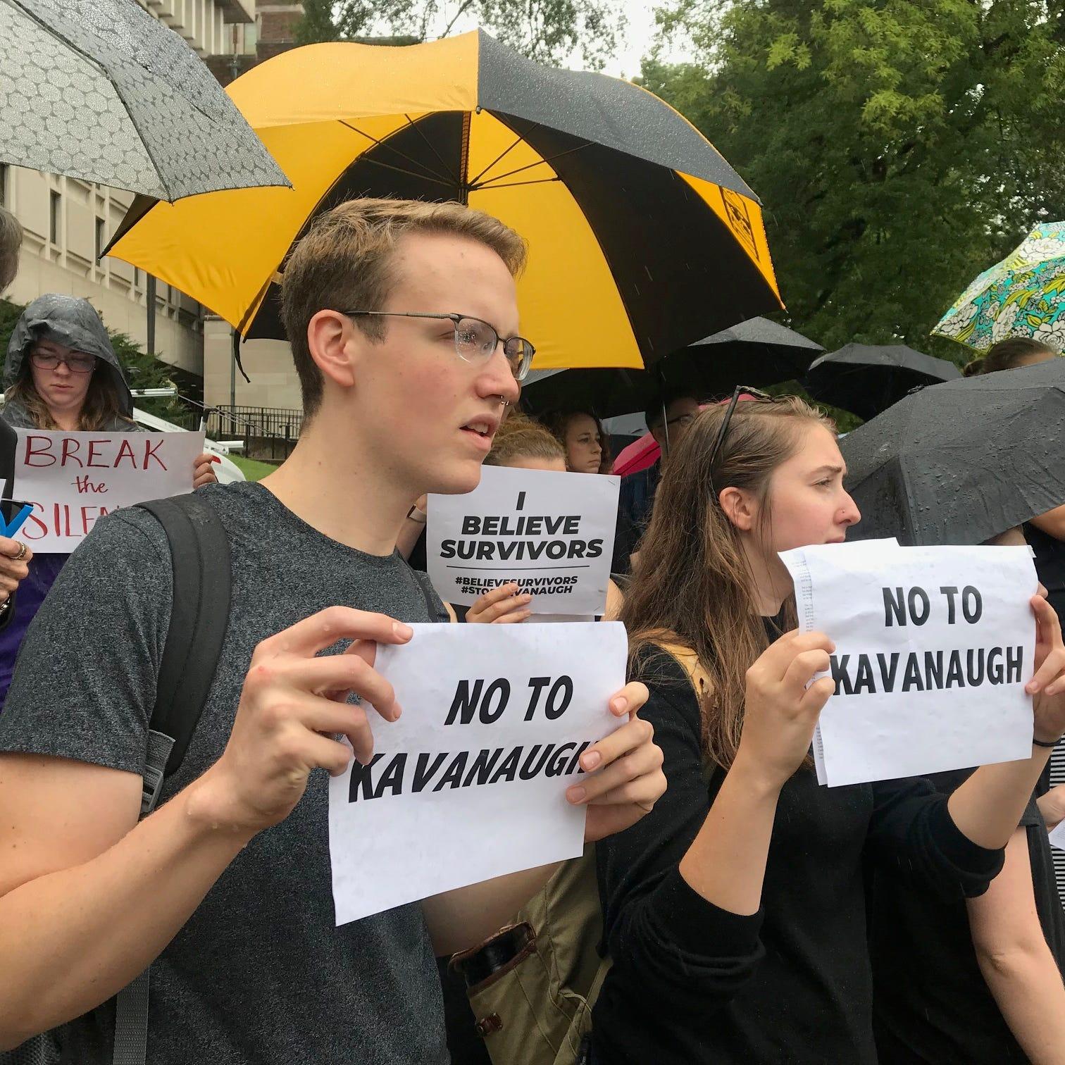 Vanderbilt students join national walkout showing solidarity for Brett Kavanaugh's accusers